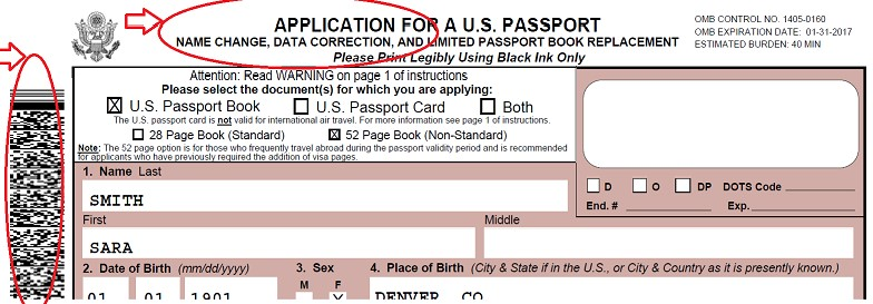 U.S. Passport Name Change