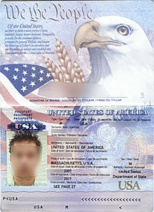 scanned passport